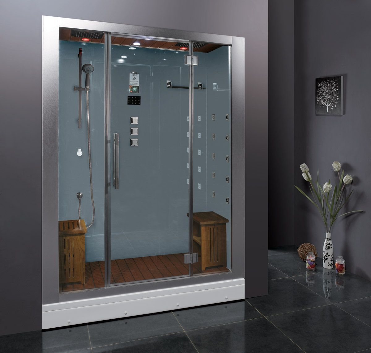 Gratian Premium Steam Shower - White | Steam showers, Steam sauna ...