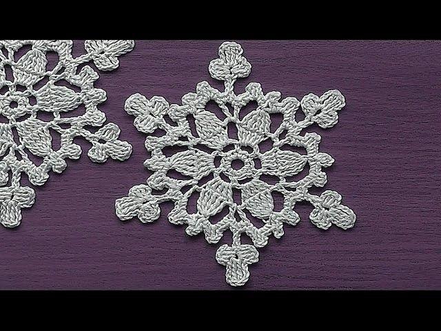 CROCHET motif Snowflake Ornament Crochet Tutorial Decoration for christmas tree