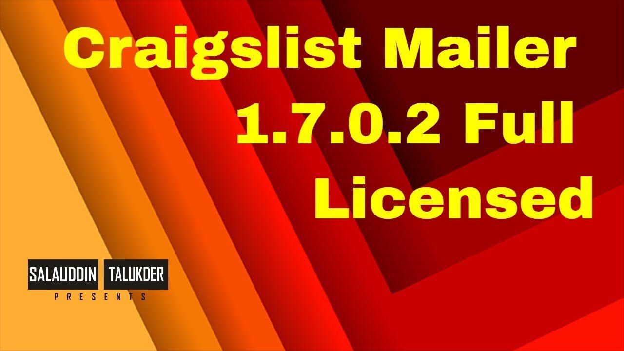 Craigslist Mailer 1 7 0 2 Full Licensed Mailer Craigslist Youtube