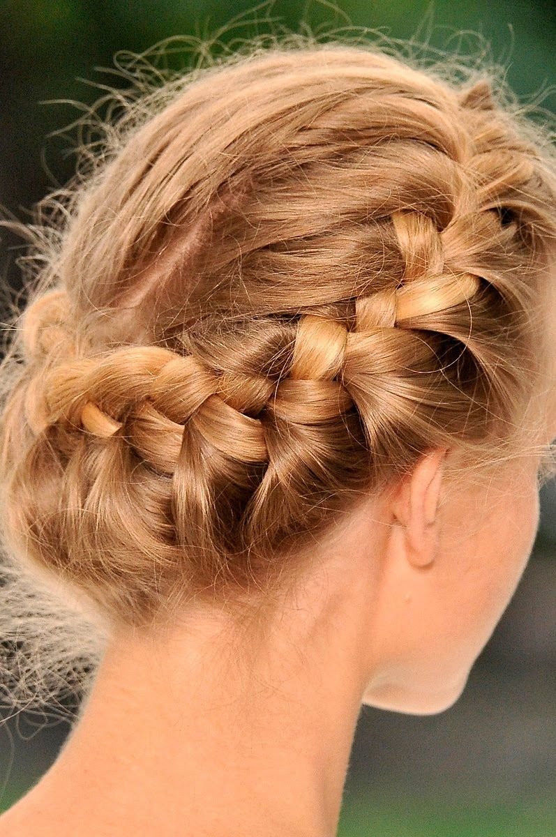 Crowned braids at erdem hairstyles pinterest crown braids