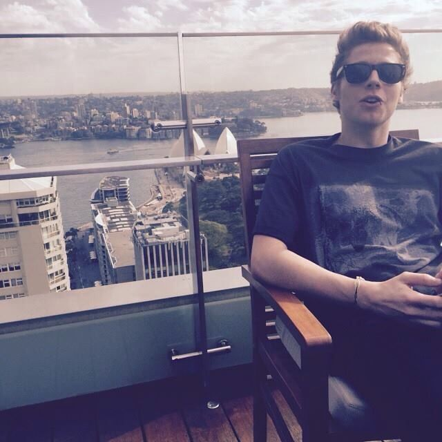 Luke taking on the world with a great view ;)