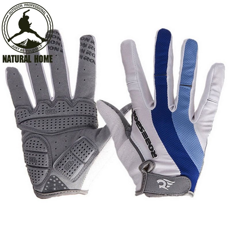Outdoor Men/'s Full Finger Cycling Gloves Guantes Ciclismo Road Mountain Bike MTB