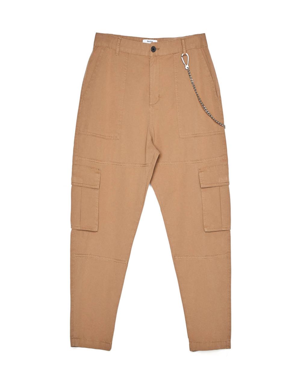 Pantalon Cargo Con Cadena Pantalones Bershka Honduras Pantalones Bershka Pantalones Con Cadenas Pantalones Cargo