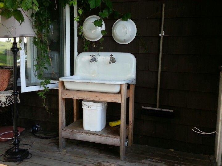Outdoor sink  Outdoor Kitchen in 2019  Outdoor sinks