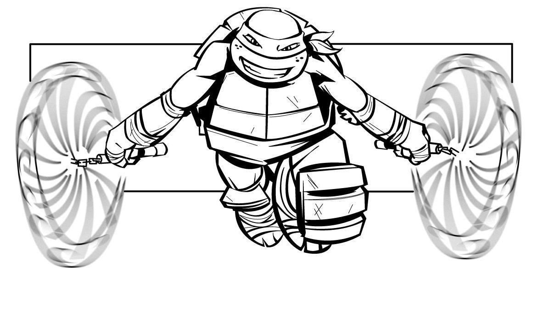 Michelangelo Teenage Mutant Ninja Turtles Coloring Picture For