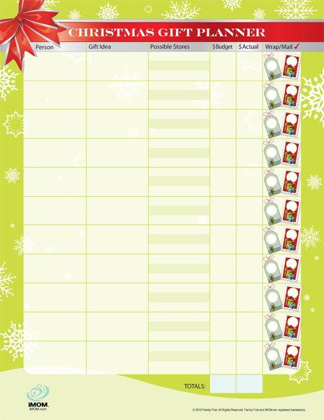 money saving christmas gift planner christmas recipes christmas