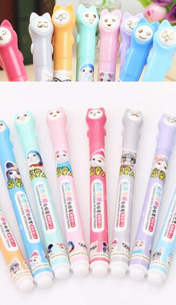 Cat emoji topper whiteboard marker pen