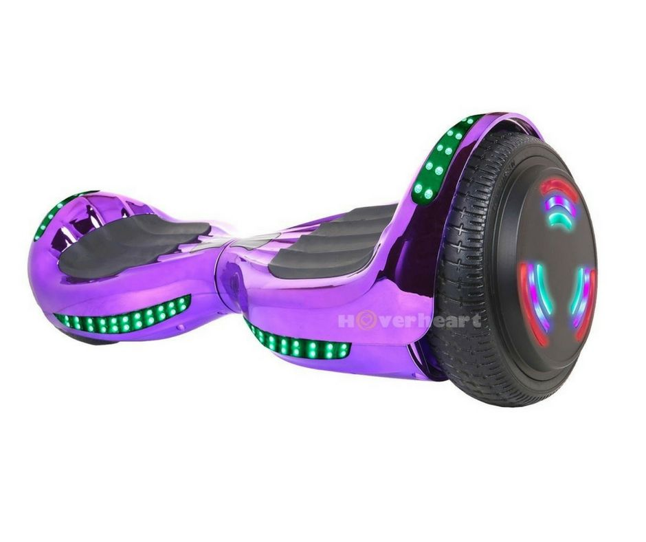 6.5/'/' Overboard Bluetooth Self Balancing Scooter Flash Wheels E-scooter Purple