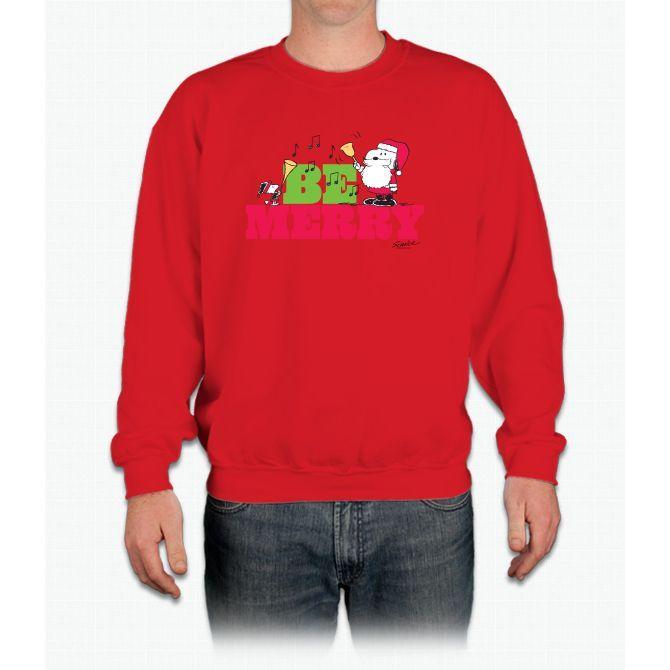 Snoopy: Be Merry Tee Crewneck Sweatshirt