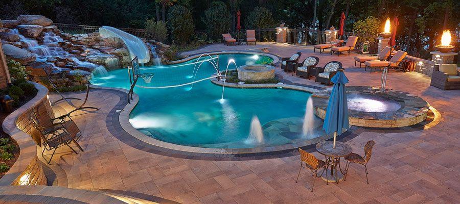 Custom Pool Ideas tampa bay pools can design a classical geometric custom pool and spa see our photo Chicago Custom Pool Builder And Pool Designer Barrington Pools