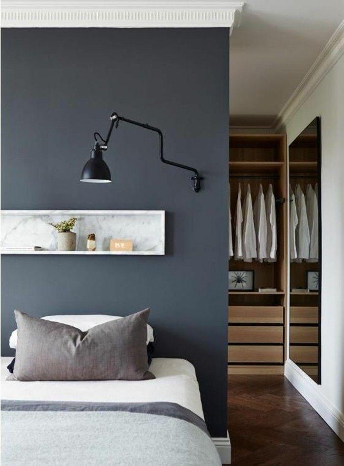 1001 Idees Comment Decorer Vos Interieurs Avec Une Niche Murale Decoration Chambre Homme Tete De Lit Avec Rangement Et Lit Chambre Parentale