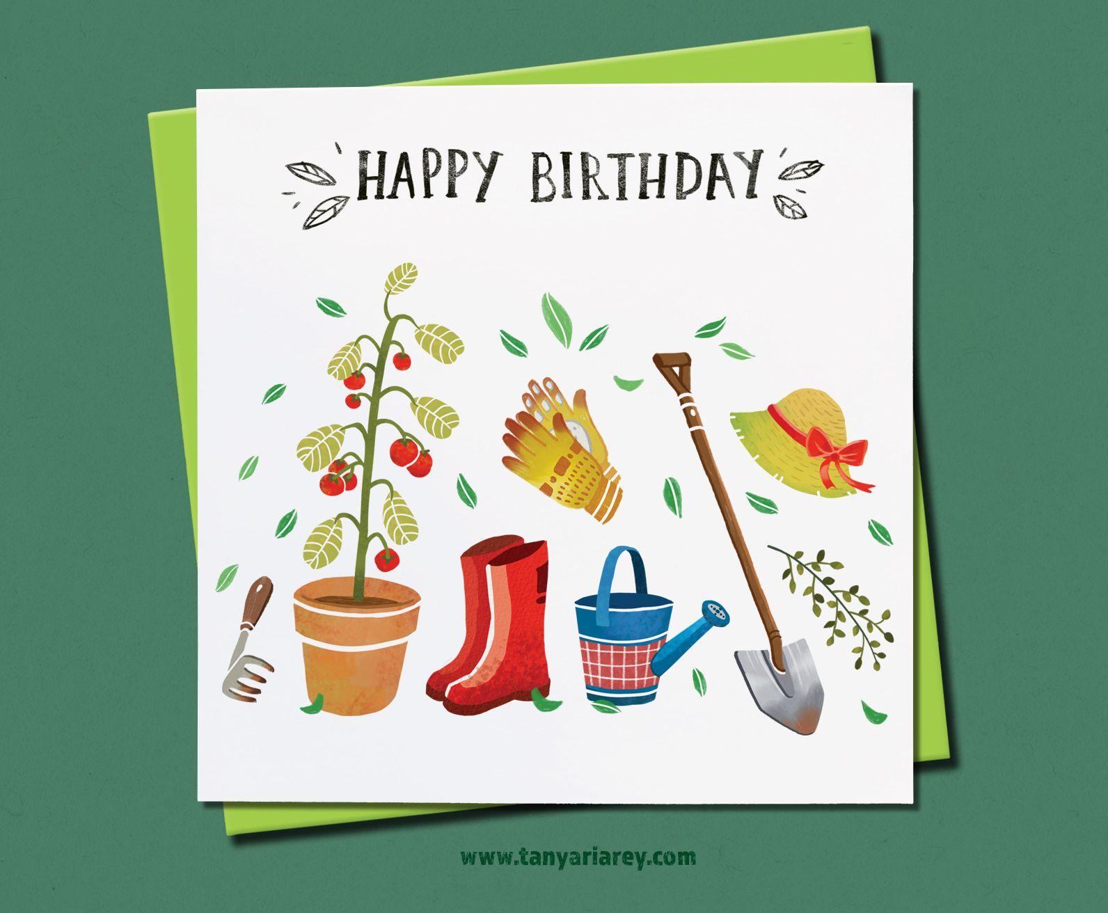 Gardening Birthday Card Card For A Gardener Retiree Grandmother