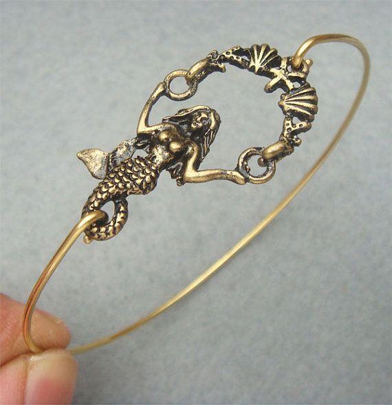 Mermaid Bangle Bracelet Style 2
