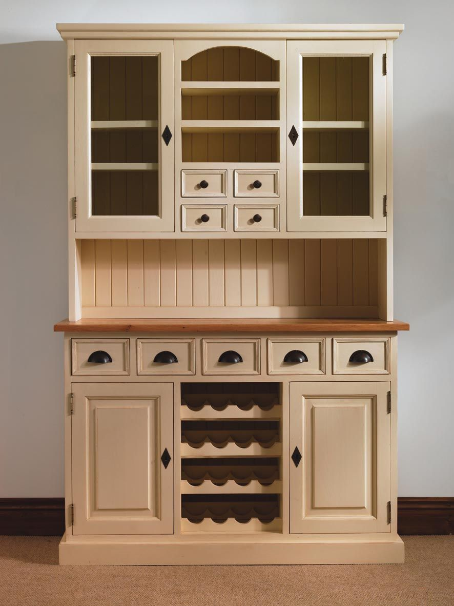 Mottisfont Painted Pine Provence Dresser With Built In Wine Rack Built In Wine Rack Pine Furniture Furniture
