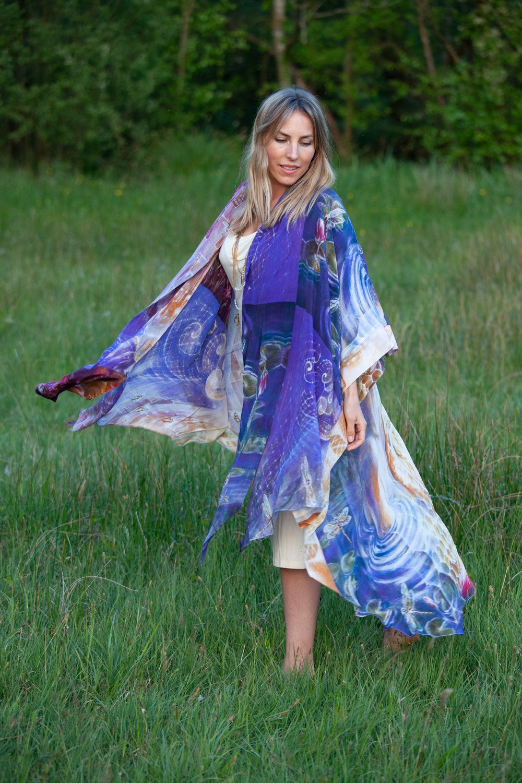 39e3f4b4071 Kimono Dress, Visionary Art Kimono, Bridesmaid Robe, Psychedelic Art,  Bohemian Clothing, Gypsy Clothing Kimono Men, Ceremony Clothing by  AsherahSoulClothing ...