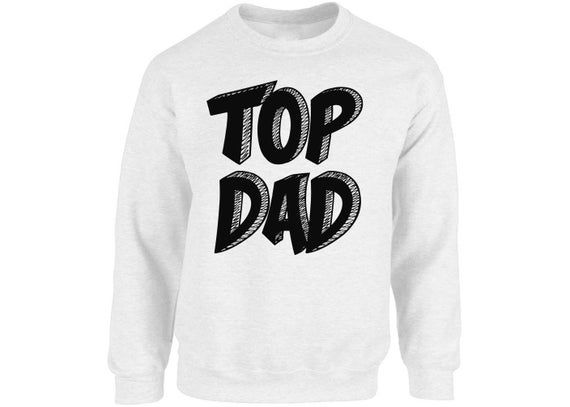 Top Dad Sweatshirt Tops Crewneck Daddy Fathers Day Gift Best Dad Superhero Gift for Him Birthday Gif #superherogifts