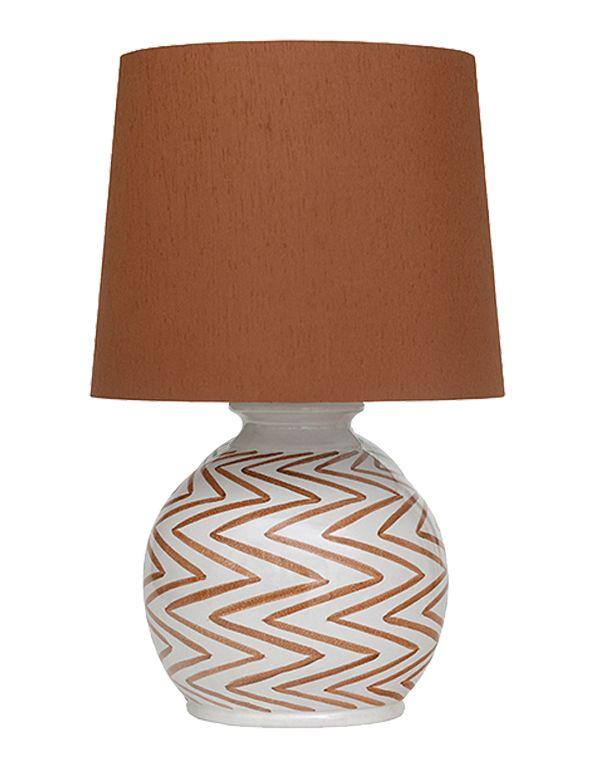 Lbm29 O Z Lamp In Burnt Orange Brabin And Fitz