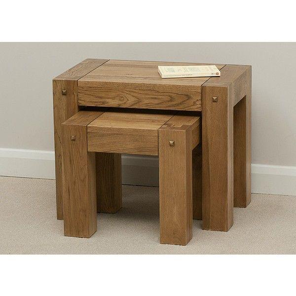 Nest Of Tables Furniture Solid Oak Solid Wood Furniture
