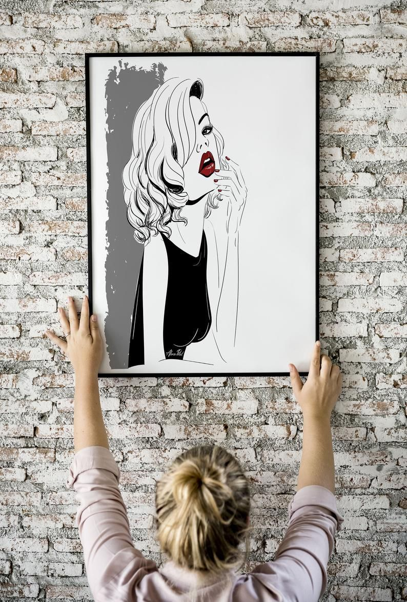 Fashion Wall Art Modern Home Decor Black and White Wall Art Fashion Poster Vogue Art Minimalist Art  - OrganizeMe123 - Fashion Wall Art Modern Home Decor Black and White Wall Art Fashion Poster Vogue Art Minimalist Art         Fashion Wall Art Modern Home Decor Black and White Wall Art Fashion Poster Vogue Art Minimalist Art Scandinavian Wall Art Fashion Room Decor      Sure, the bushy perms of the 80s might be out of vogue, but there are plentitude of modern hair perms that are really gorgeous #minimalisthomedecor