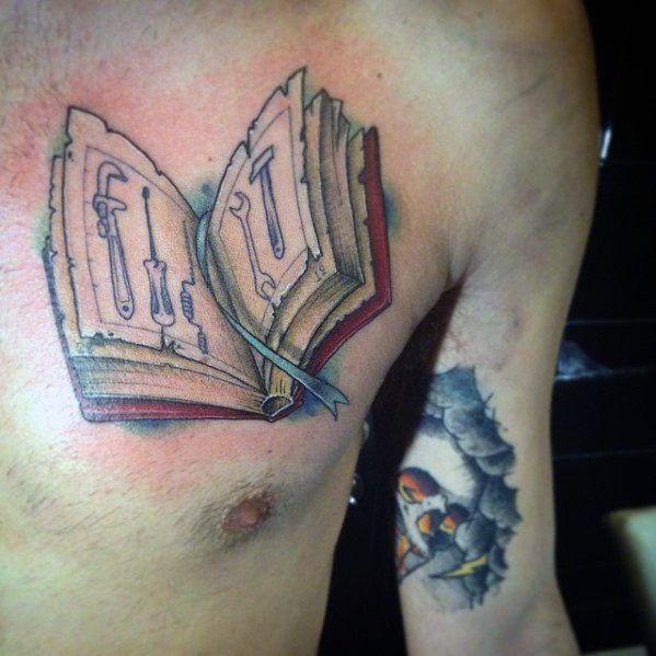 30 Engineering Tattoo Designs Für Männer Mechanische Tinte Ideen