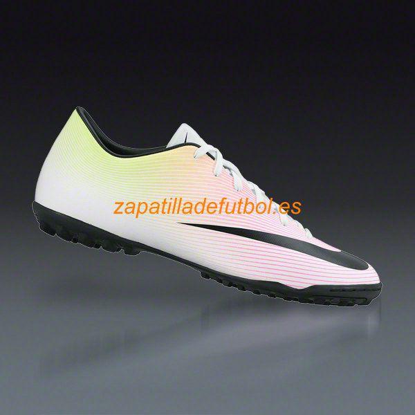 54ebe6c3abd60 59% de descuento Zapatillas de futbol Sala Nike Mercurial Victory V TF  Blanco Voltio Total Naranja Negro
