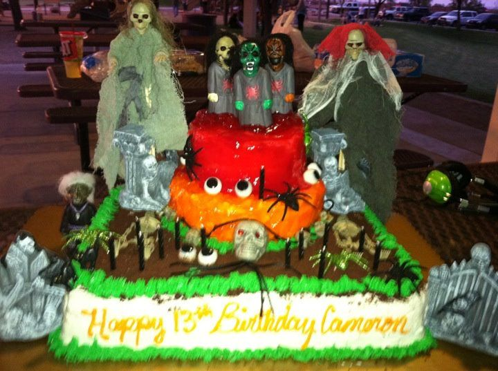 Halloweenscary Birthday Cake Great Cake Ideas Pinterest