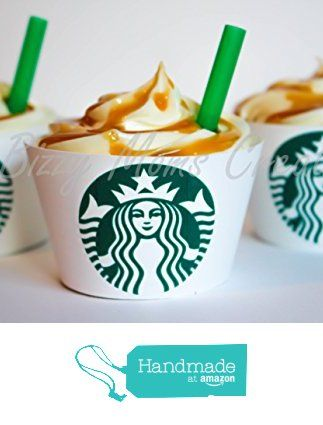 Starbucks Inspired Cupcake Wrappers - Birthday Party Décor- Wedding Décor- Baby Shower Décor - Set of 12 from Bizzy Moms Creations http://www.amazon.com/dp/B0198P26QS/ref=hnd_sw_r_pi_dp_uILQwb1QA2DFE #handmadeatamazon