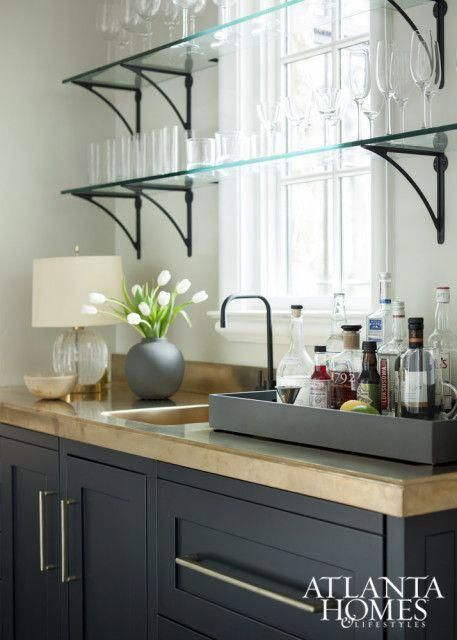 Glass Shelves For Kitchen Cabinets #coolhomebardecor ...