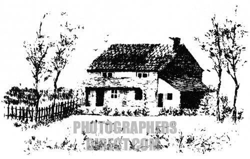 Edgar Allan Poe s home at Fordham cottage , New York . American author & poet : 19 January 1809 7 October 1849 . stock photo