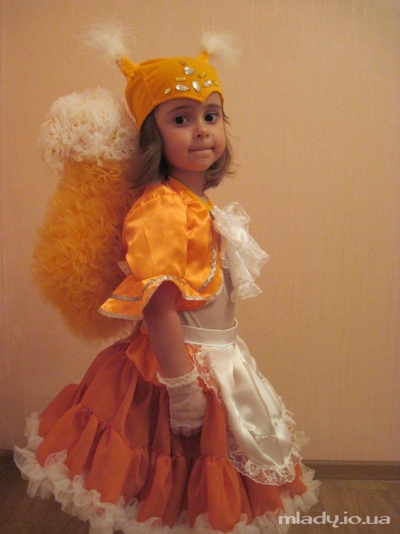 Новогодний костюм белочки для девочки своими руками фото 449
