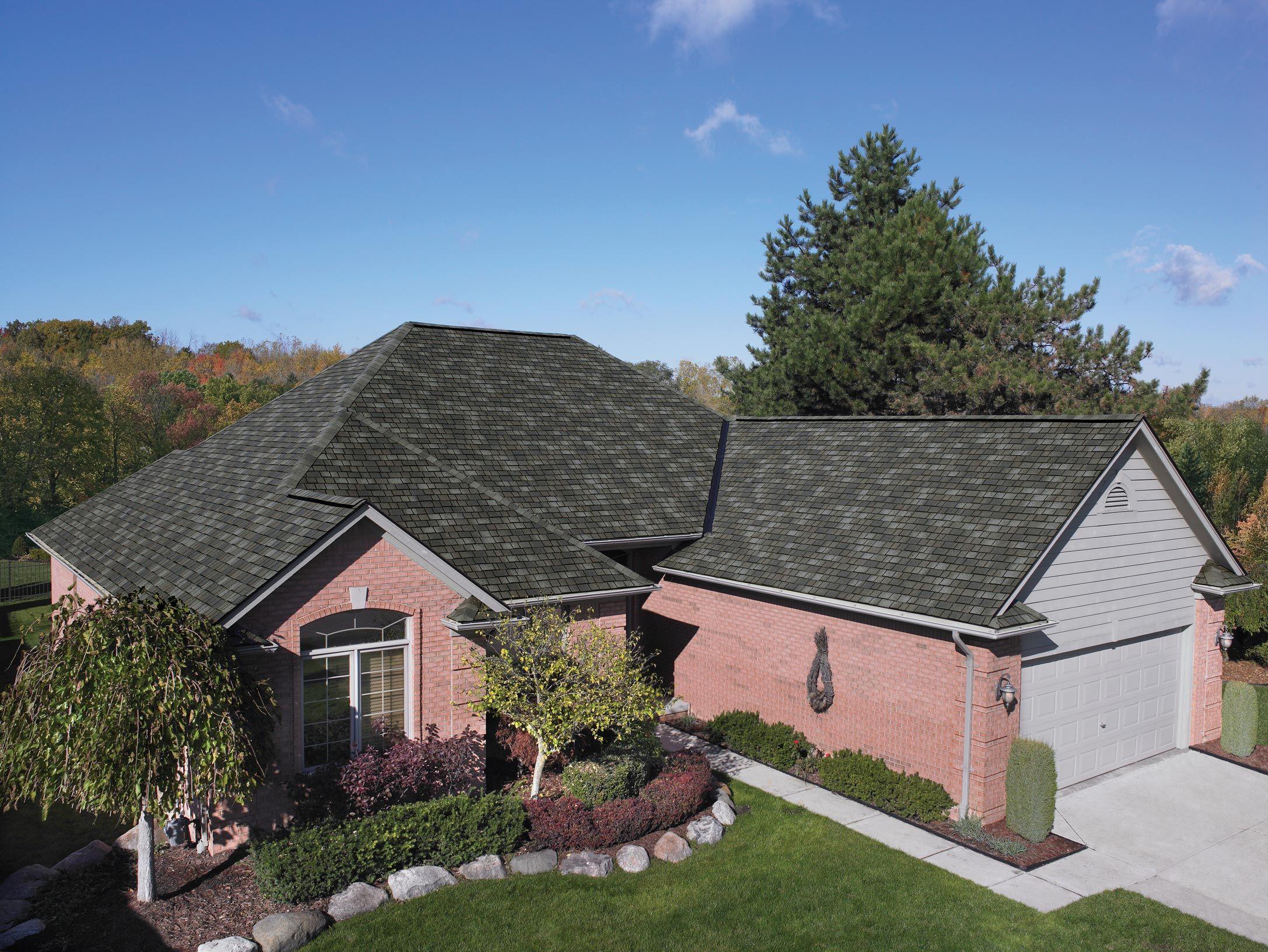 Iko Royal Estate In Mountain Slate Designer Asphalt Shingles Slate Brown Roof In 2020 Residential Roofing Shingles Roof Shingles Residential Roofing