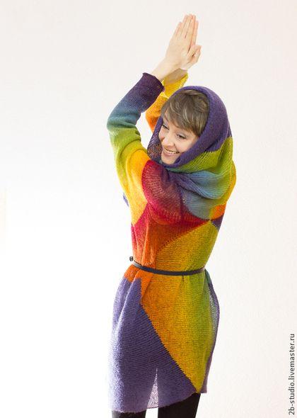 Кофты и свитера ручной работы. Парадокс Кардиган - трансформер, женская вязаная кофта. Вязаные трансформеры, пончо, пальто. Ярмарка Мастеров.