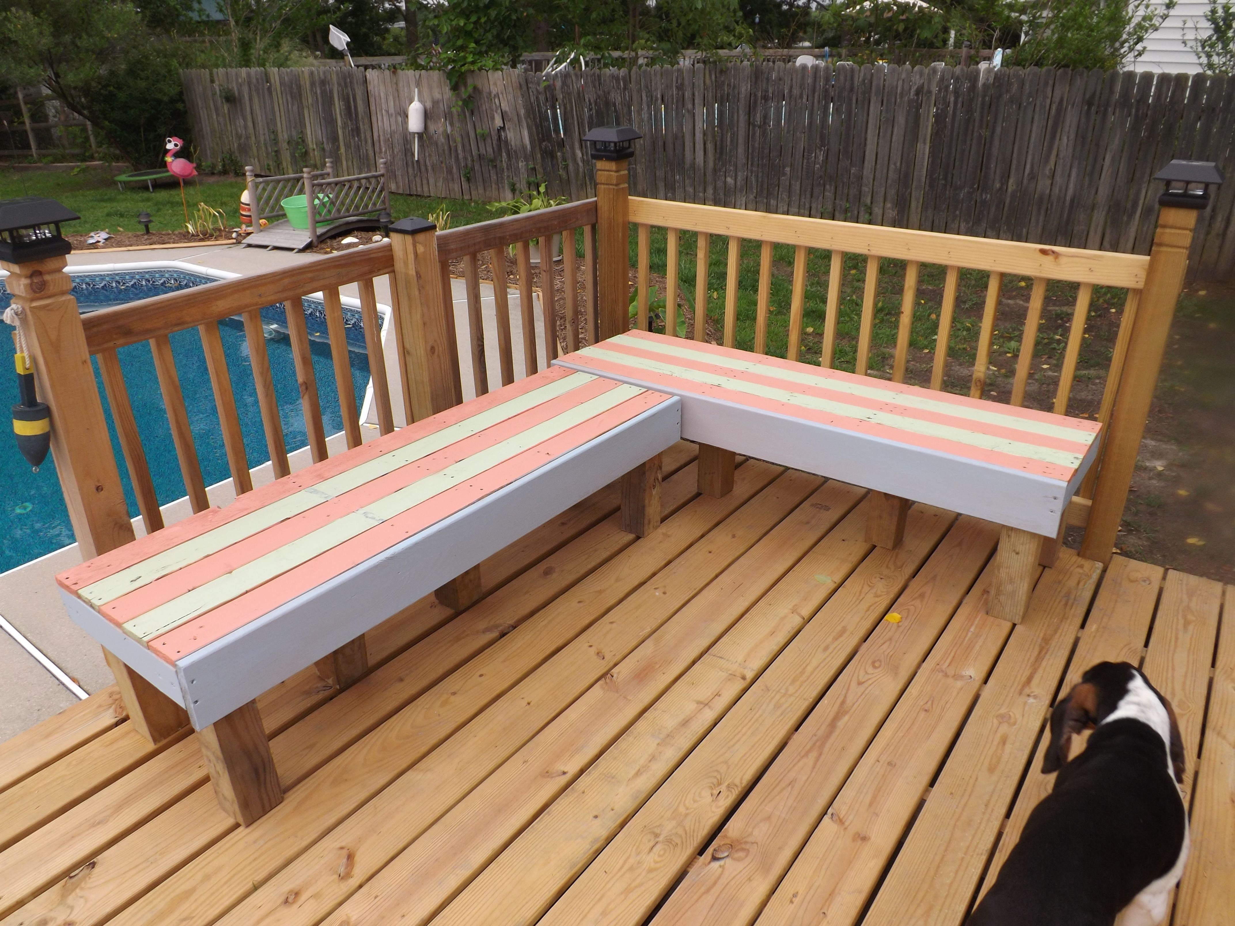 Deck pallet benches | for Tim | Pinterest