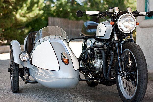 Motorcycle Sidecar Honda Cb550 By Analog Motorcycle Sidecar