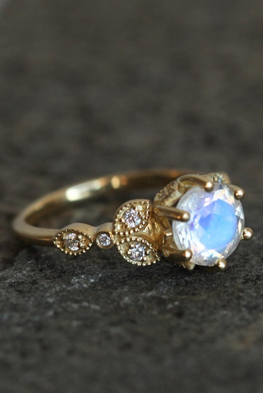 Vintage Style Moonstone Ring Capucinne On Etsy: Gothic Style Wedding Rings Etsy At Reisefeber.org
