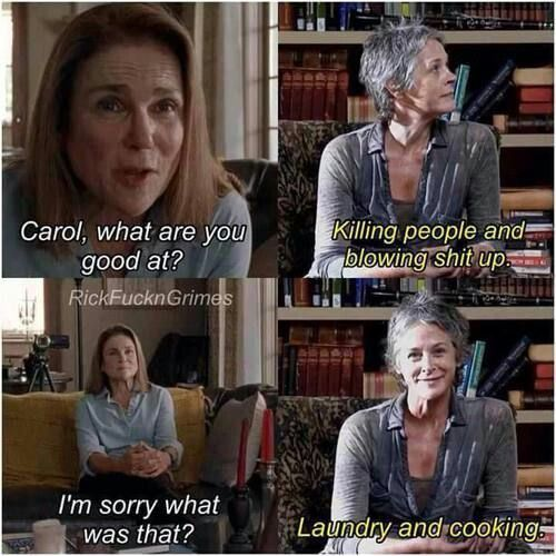 Sneaky Carol haha #Funny #TWD #Obsession