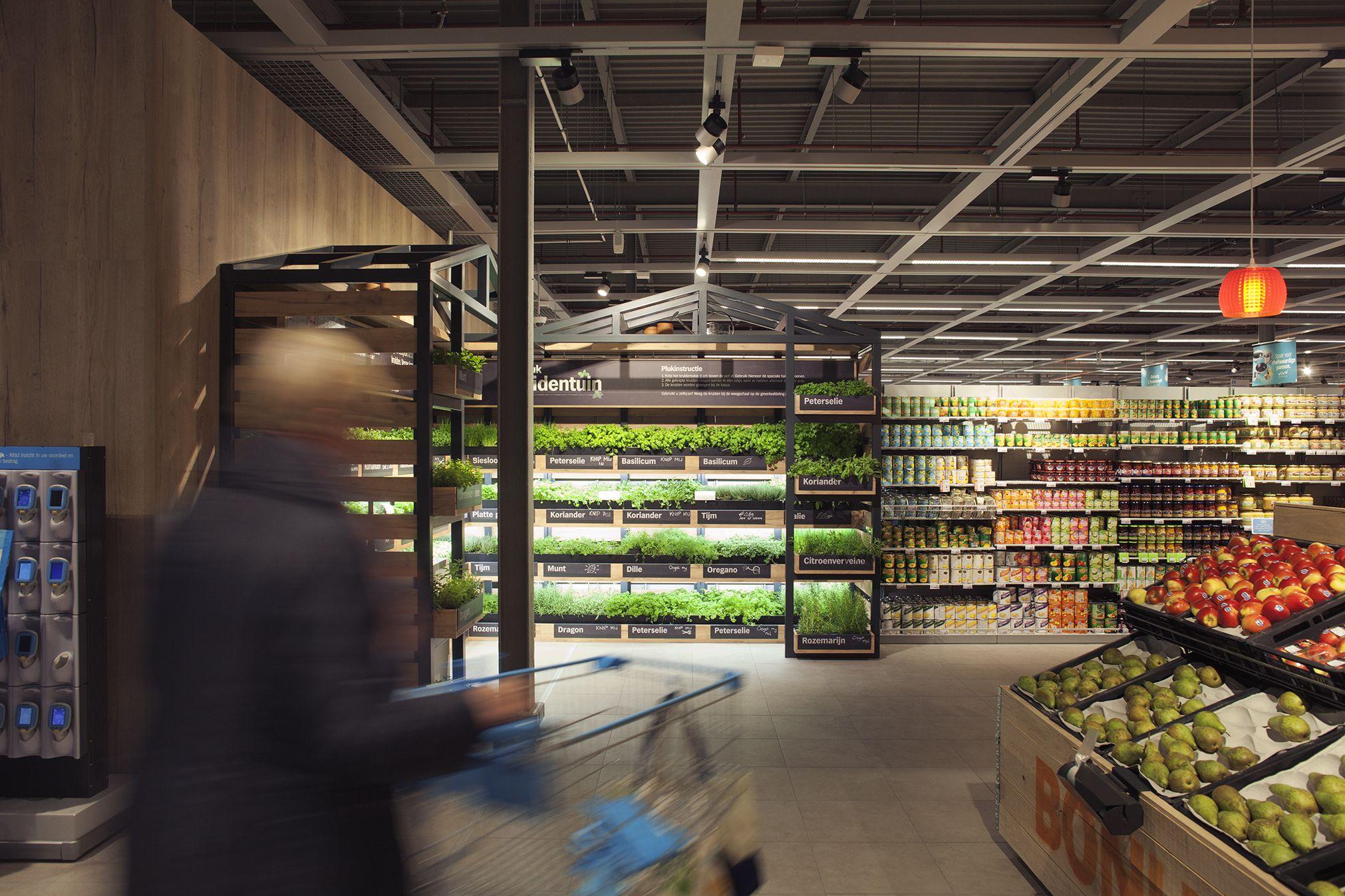 Studiomfd, Instore, Herb Garden, Retail, Design, Green, Eco, Albert Heijn,