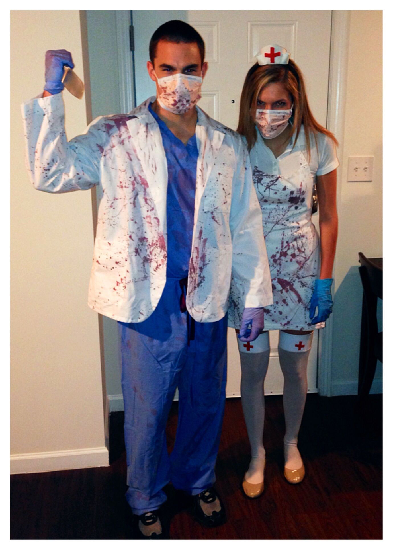 0ebdd60c8d8ab DIY Zombie Dr. and Zombie Nurse costumes | Craft Projects: Complete ...