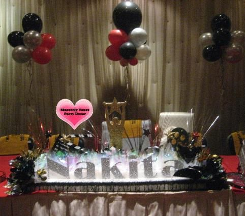 Hollywood Theme Sweet 16 Mitzvah Quinceanera Candle