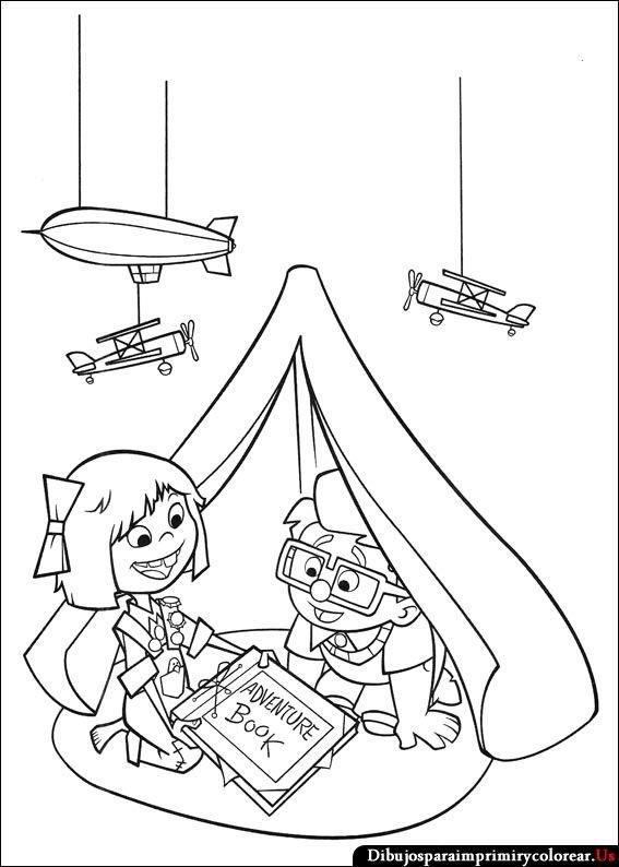Dibujos de Up - Una Aventura de Altura para Imprimir y Colorear   UP ...