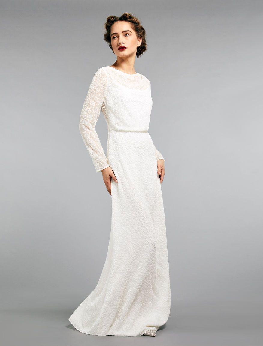 d0c4558ed5 Devore velvet dress, white in 2019 | Wedding fit | White velvet ...
