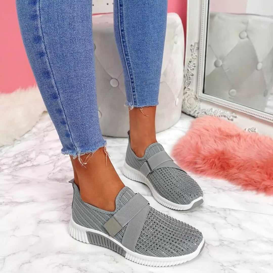 HOT! HOT! 2020 New HOT! Spring and Autumn Women Shoes Casual Loafers Comfort Flat Shoes for Zapatos De Mujer Sneakers 35-43 - Gray / 42