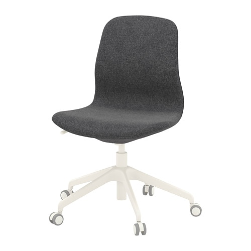 LÅngfjÄll Swivel Chair Gunnared Dark Gray White Ikea