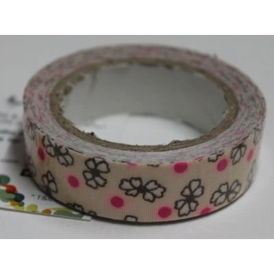 Buy Beige with white  flowers and pink dots decorative tape/Adhesive for any use by undefined, on Paytm, Price: Rs.125?utm_medium=pintrest