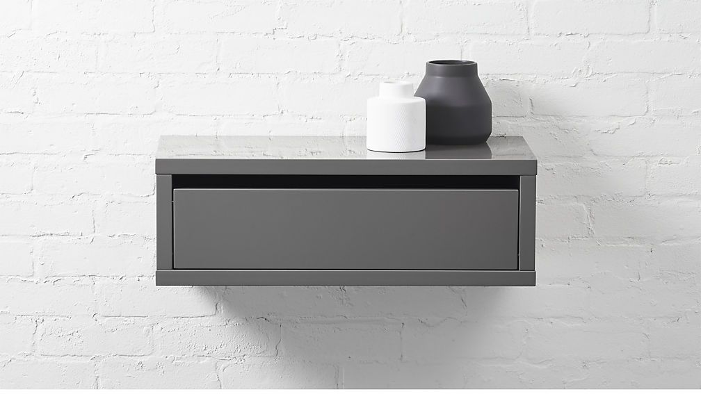 Slice Grey Wall Mounted Storage Shelf White Wall Mounted Shelves