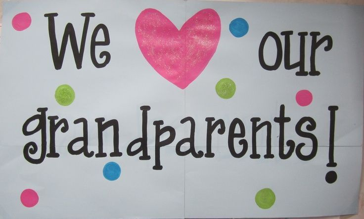 Grandparent's Day sign. Hang it up on the wall to greet the grandparents on … ... #grandparentsdaygifts