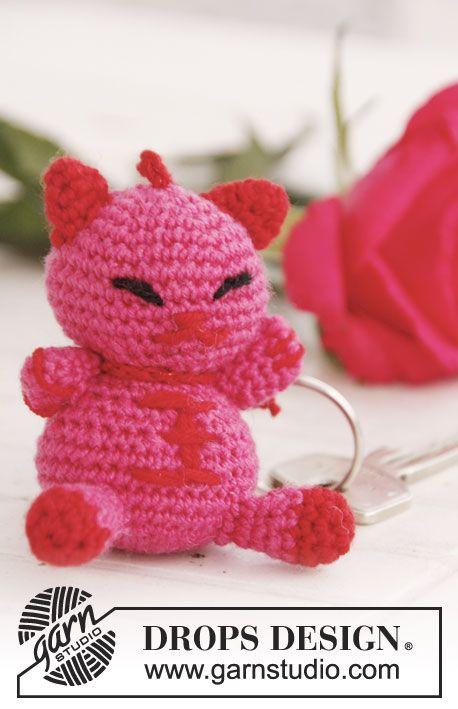 "Gehäkelte DROPS Katze in ""Baby Merino"". ~ DROPS Design | Amigurumi ..."