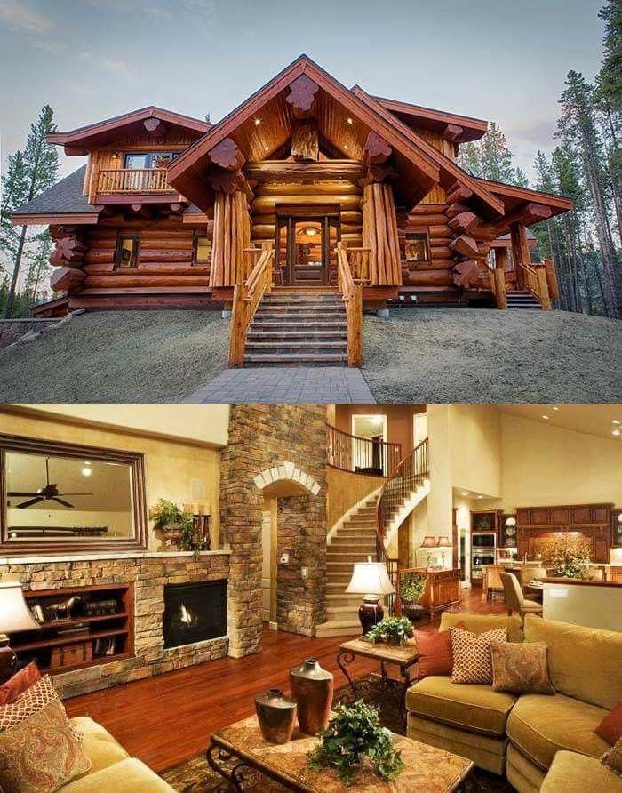 WOW AMAZING CABIN (With images) Log cabin homes Log