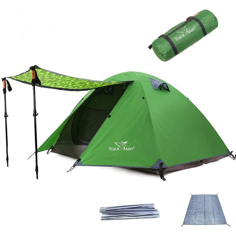 Trackman TM1211 2 Person Camping Tent Double Layers Aluminum
