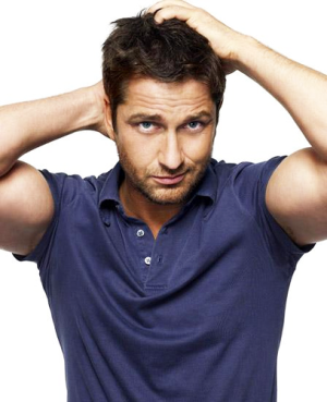 """Gerard Butler.  He may not be the """"best looking"""" guy ever. (Still super hot, just not like George Clooney.)  But gahh, please give me one. I love his personality and everything about him. YUM."""